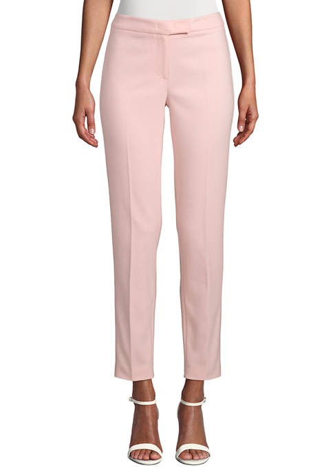 Anne Klein Womens Double Weave Bowie Pants