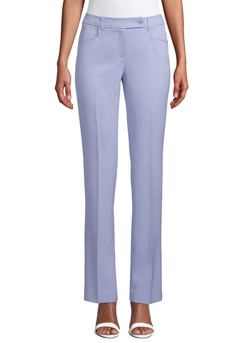 Anne Klein Womens Button Tab Pants