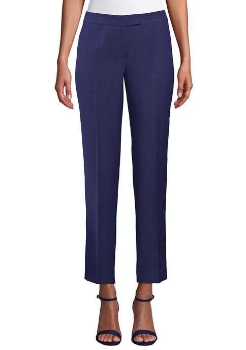 Anne Klein Womens Linen Bowie Pants