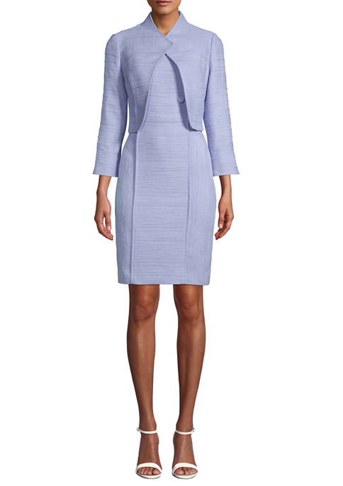 Anne Klein Womens Tweed Crop Jacket