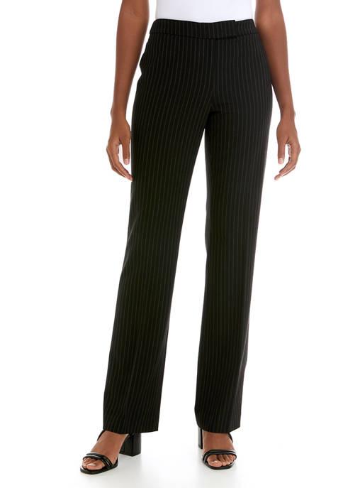Womens Pinstripe Flare Leg Pants