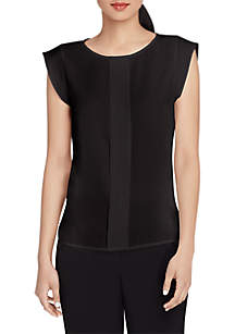 Tahari ASL Pleated Front Cami