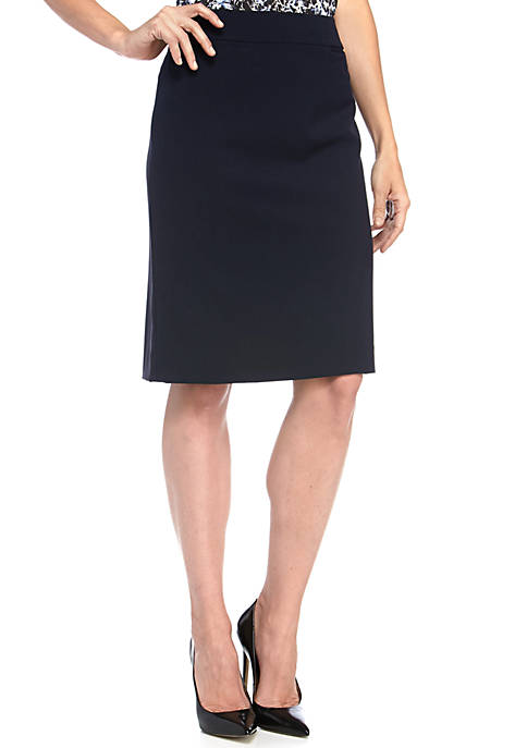 4af7acc36be49c ... Tahari ASL Flat Front Solid Skirt. Flat Front Solid Skirt