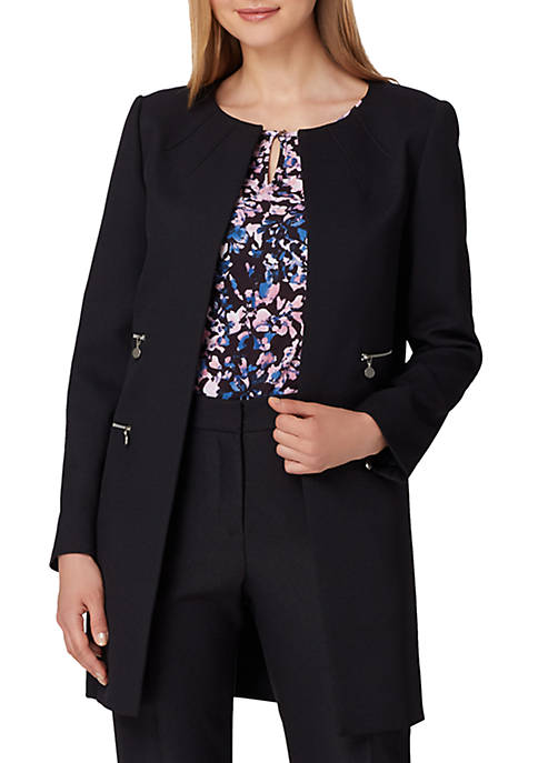 Tahari ASL Open Topper With Zippers