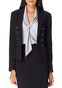 Faux Double Breasted Jacket