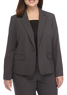 Plus Size Peak Collar Jacket