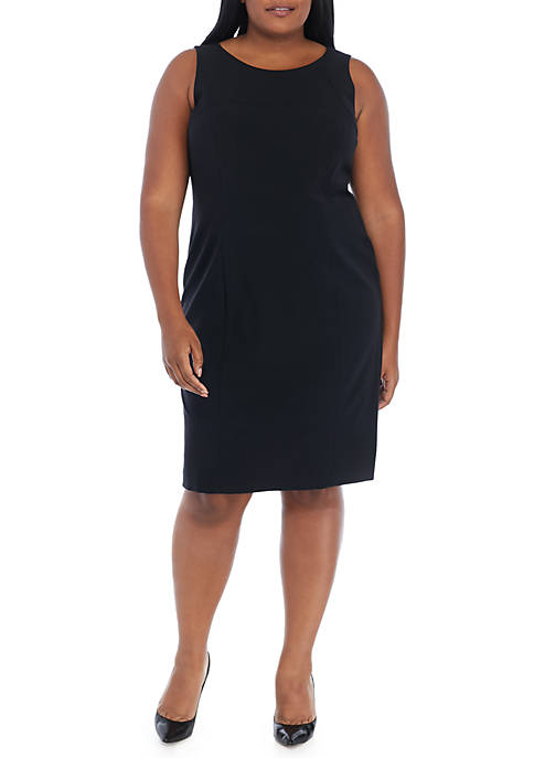 Plus Size Seamed Dress