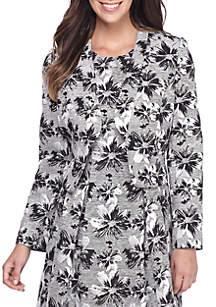 Floral Jacquard Kiss Front Jacket