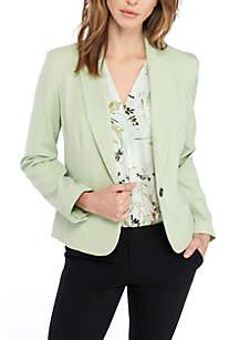 One-Button Notch Collar Jacket