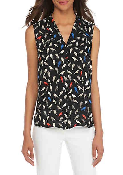 Flared Sleeve V-Neck Blouse Nine West Excellent Sale Online Clearance Best Store To Get Outlet Great Deals 8M09l1
