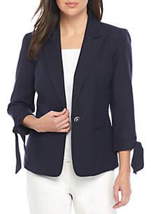 Tie Sleeve 1 Button Jacket