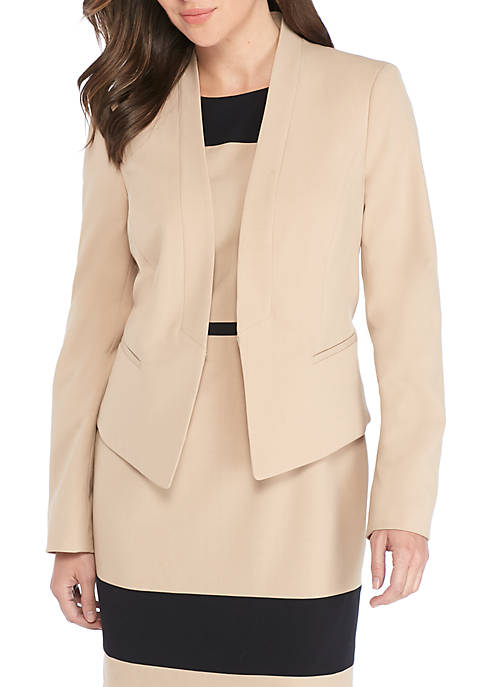 Nine West Kiss Front Shawl Collar Jacket