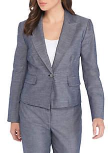 Denim 1 Button Jacket
