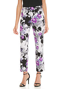 Floral Print Straight Leg Pant