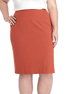 Plus Size Solid Slim Skirt