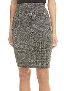 Knit Tweed Slim Skirt