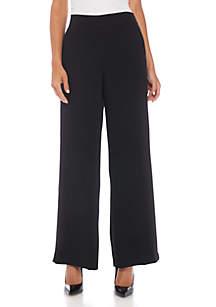 Wide Leg Elastic Back Pants