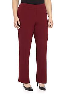 Plus Size Solid Trouser Pant