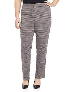 Plus Size Houndstooth Pant