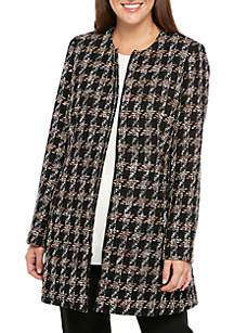 Plaid Tweed Topper