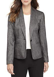 1 Button Tweed Jacket
