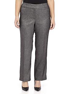 Plus Size Tweed Pant