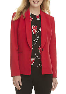 One-Button Collar Jacket
