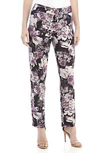Floral Print Crepe Pants