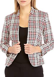 Tweed Plaid Jacket