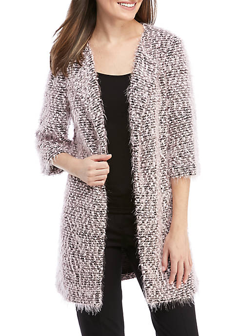 Nine West Wide Lapel Tweed Topper