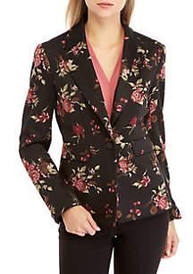Nine West 1 Button Floral Print Jacket
