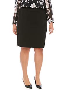 0017828b93962 ... Nine West Plus Size Elastic Waist Pull On Skirt