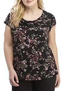 Plus Size Cap Sleeve Shirt