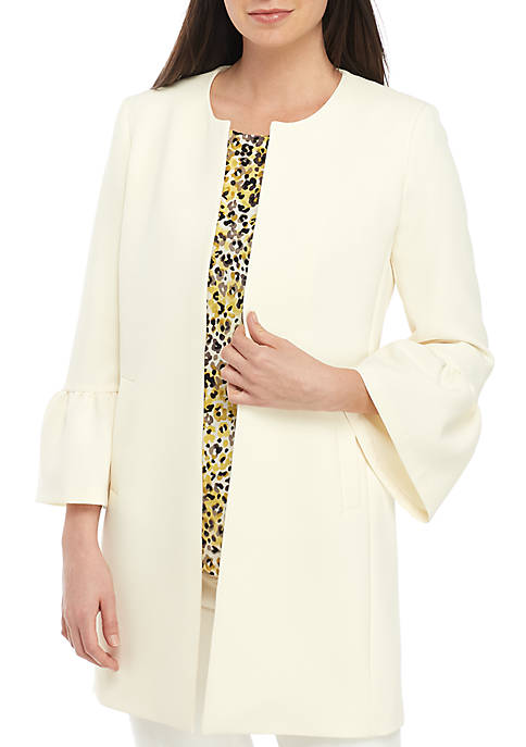 Crepe Topper with Bell Sleeves