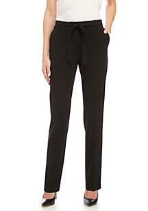 Nine West Belted Tie Front Pants