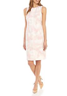 Nine West Sleeveless Cloud Print Dress