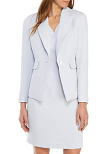 Nine West One Button Lapel Crepe Jacket