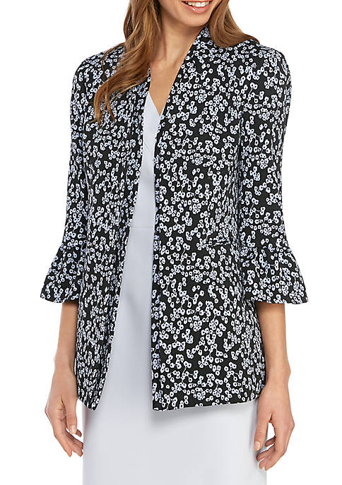 Ruffle Bell Sleeve Floral Jacket