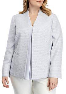 Nine West Plus Size Tweed Jacket