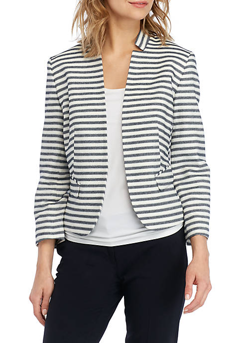 Striped Kiss Front Jacket
