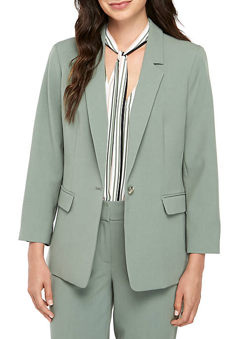 Nine West One Button Stretch Jacket