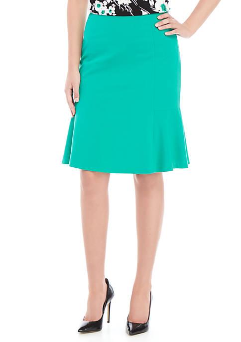 Stretch Flare Skirt