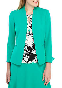 Nine West Stand Collar Kissing Jacket