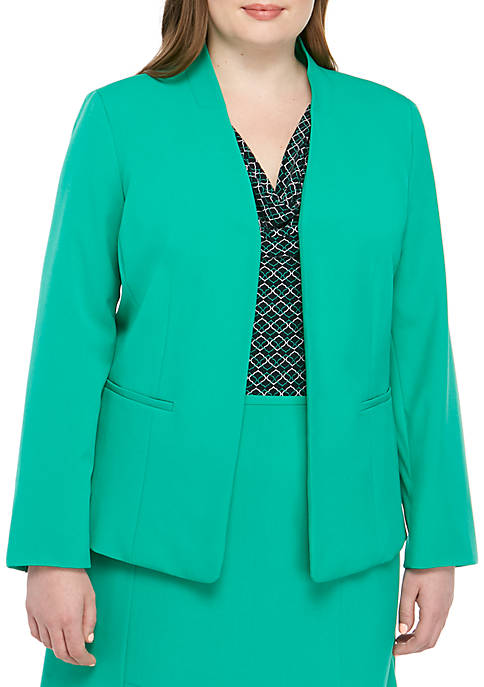 Plus Size Stand Collar Kissing Jacket