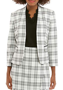 Nine West Plaid Kissing Jacket