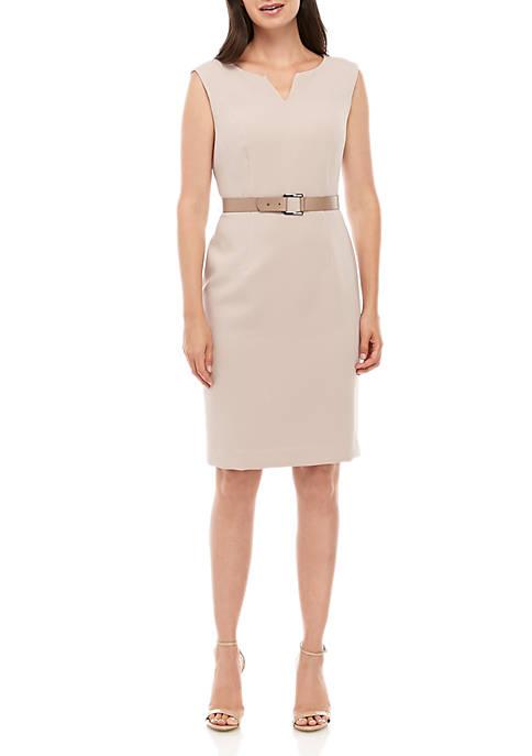 Sleeveless Dress with Waist Detail