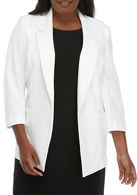 Plus Size Drapey Crepe Jacket