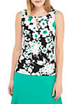 Sleeveless Floral Print ITY Top