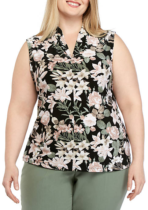 Plus Size Printed ITY Top