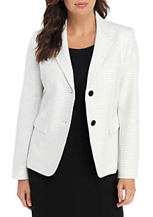 Nine West 2 Button Windowpane Jacket